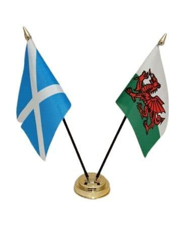 Scotland with Wales Friendship Table Flag