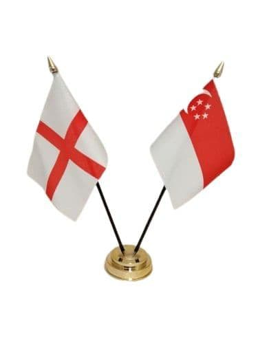 Singapore with England Friendship Table Flag