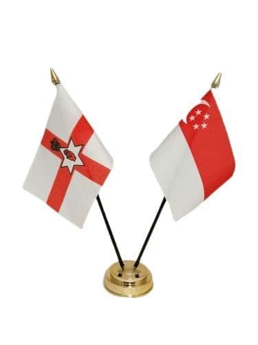 Singapore with Northern Ireland Friendship Table Flag