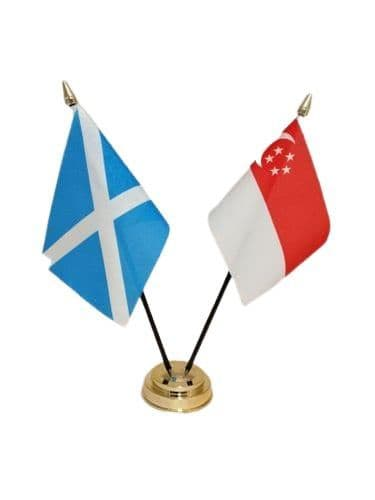 Singapore with Scotland Friendship Table Flag
