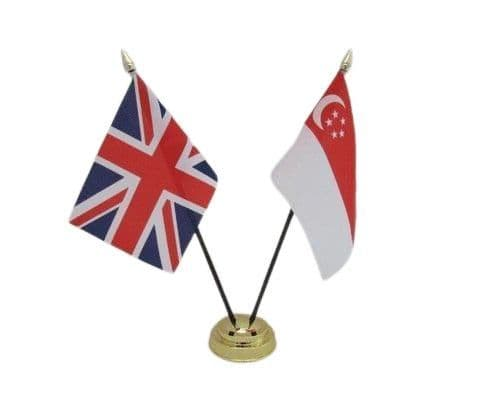 Singapore with UK Friendship Table Flag
