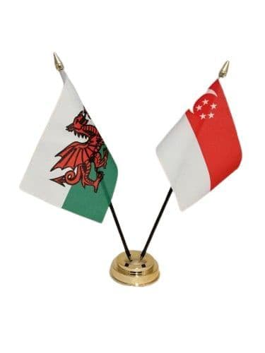 Singapore with Wales Friendship Table Flag
