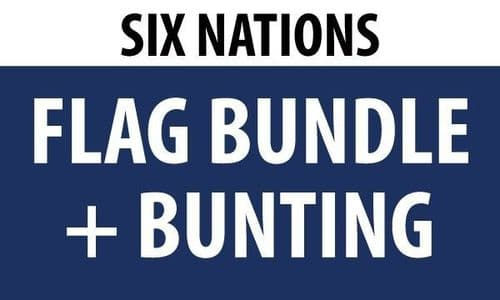 Six Nations Flag GIANT Bundle (8ft x 5ft) + 16m Bunting