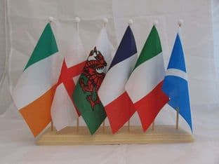 Six Nations Flag Wooden Table Flag display