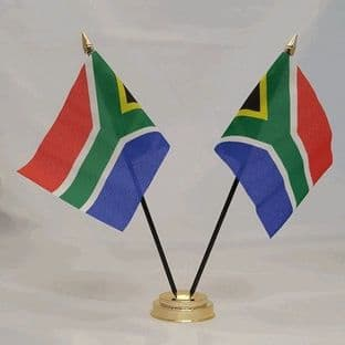 South Africa Double Table Flag