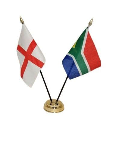 South Africa with England Friendship Table Flag