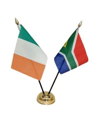 South Africa with Ireland Friendship Table Flag