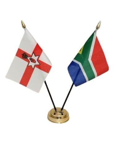 South Africa with Northern Ireland Friendship Table Flag