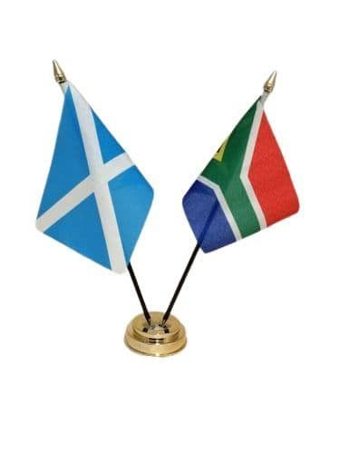 South Africa with Scotland Friendship Table Flag
