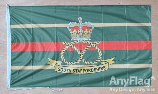 South Staffordshire Regiment Flag Rope & Toggle | Buy South Staffordshire Regiment Flag Rope & Toggle | NWFlags