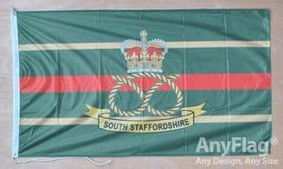 South Staffordshire Regiment 5ft x 3ft Flag Rope & Toggle