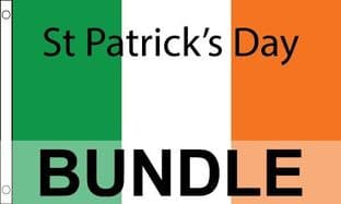 St Patricks Day Flag & Bunting Bundle - 6 Items