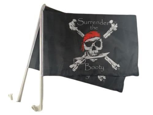 Surrender The Booty Car Flag - 2 Pack