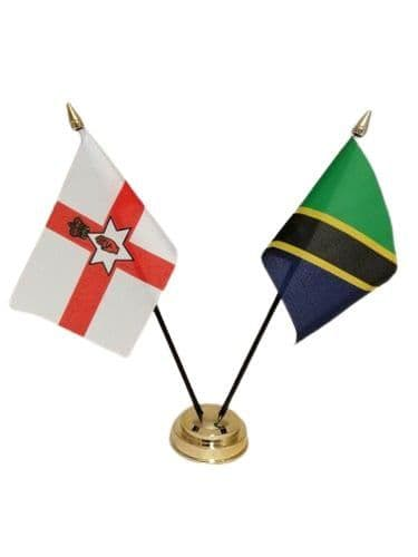 Tanzania with Northern Ireland Friendship Table Flag