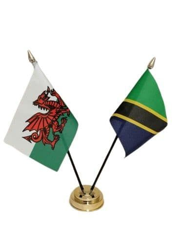 Tanzania with Wales Friendship Table Flag