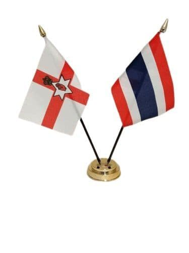 Thailand with Northern Ireland Friendship Table Flag