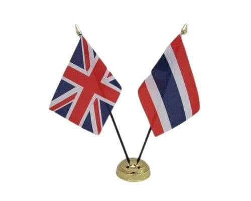 Thailand with UK Friendship Table Flag