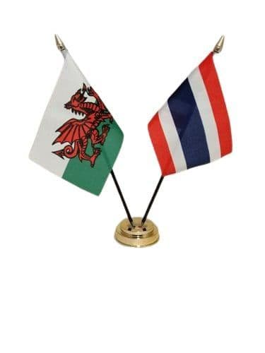Thailand with Wales Friendship Table Flag