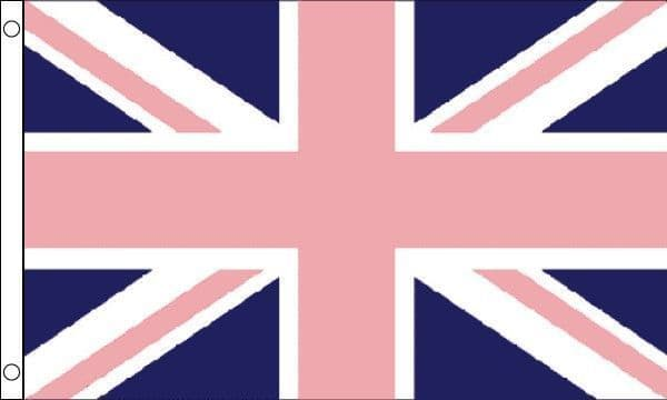 Union Jack Gay Pride With Pink 5ft x 3ft Flag