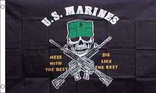USA Marines-Mess With The Best 5ft x 3ft Flag