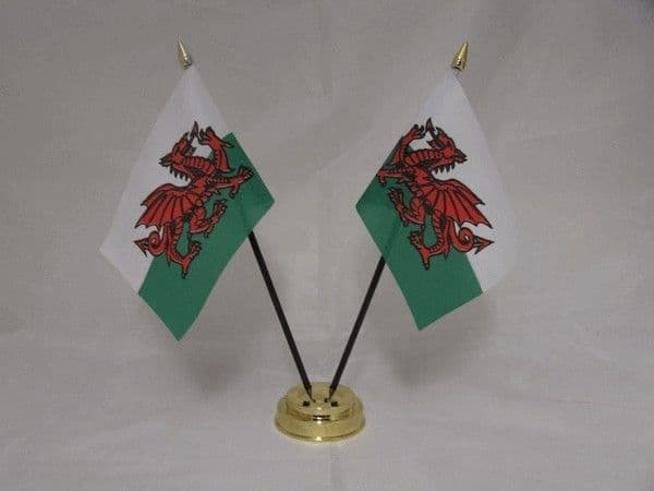Wales Double Table Flag