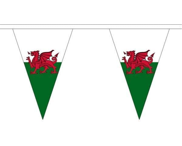 Wales Triangle Bunting (5m) - 12 Flags
