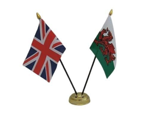 Wales with UK Friendship Table Flag