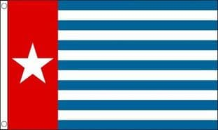 West Papua SLEEVED Flag - 1.5ft x 1ft
