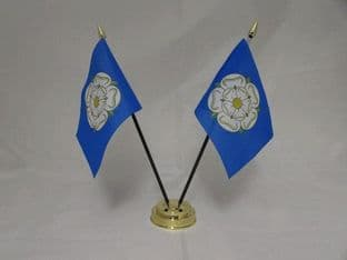 Yorkshire Double Table Flag