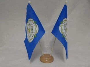 Yorkshire Double Wooden Table Flag