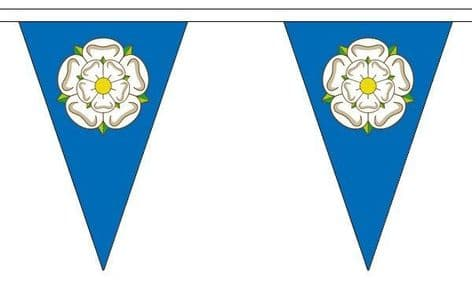 Yorkshire Triangle Bunting   Buy Yorkshire Triangle Bunting   NWFlags