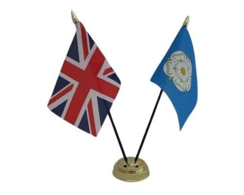 Yorkshire with UK Friendship Table Flag