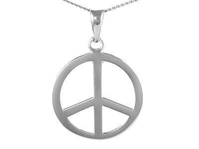 The Round Peace Sign Pendant