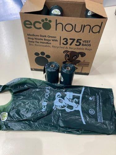 Ecohound Oceanex Bio-Renewable Dog Poop Bags with Handles Medium Bags