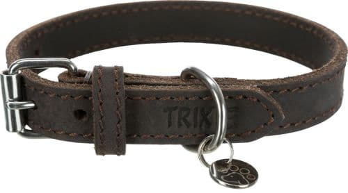 Trixie Rustic Greased Leather  Collar