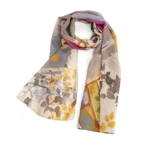 Pink and blue tone scarf. SC33278