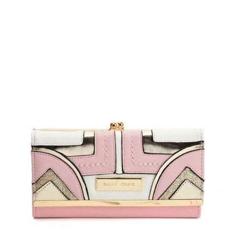 PinK – Long Wallet With Colour Collision Splicing Design