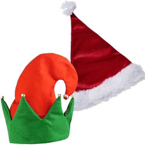 Christmas Santa Claus Hat and Elf Hat Package