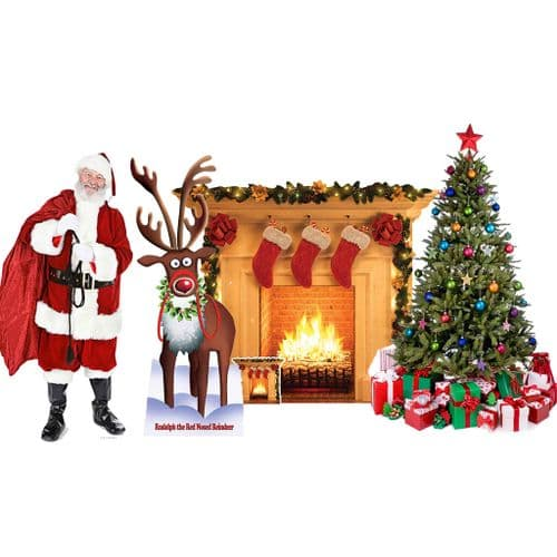 Christmas & Santa Claus Theme Cardboard Cut Out Packages