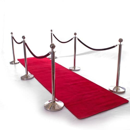 Red Carpet 1.5 Metre Width available in Multiple Lengths - 4 metres, 6 metres and 8 metres