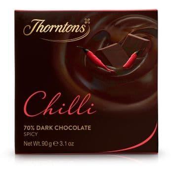 70% Dark Chilli Chocolate Block (90g)