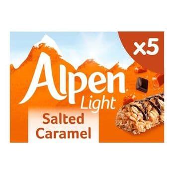 Alpen Light Bar Salted Caramel 5X19g