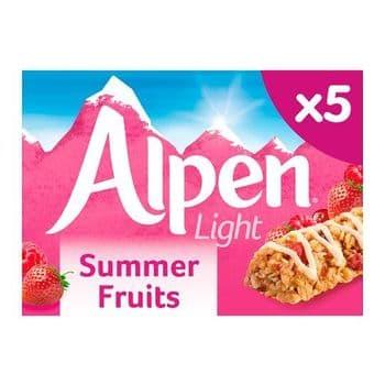 Alpen Light Bars Summer Fruits 5 X 21G
