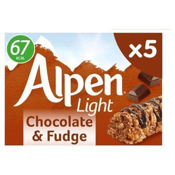 Alpen Light Chocolate & Fudge Bar 5X19g