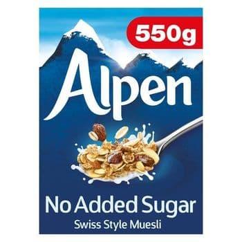 Alpen No Added Sugar Swiss Style Muesli 550G
