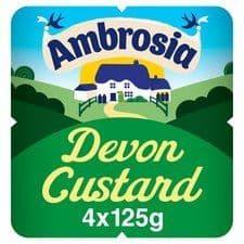 Ambrosia Ready To Eat Devon Custard 4 X 125G