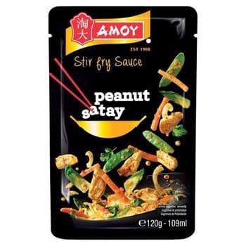 Amoy Stir Fry Peanut Satay Sauce 120G
