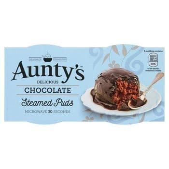 Auntys Chocolate Puddings 2 X 95G