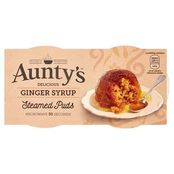 Auntys Ginger Puddings 2X95g