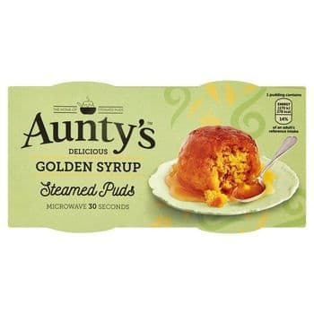 Auntys Golden Syrup Puddings 2 X 95G
